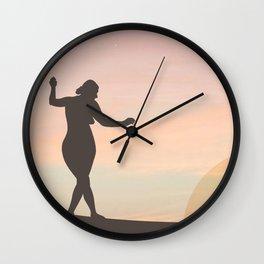 SUNSET LADY  Wall Clock
