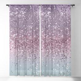 Unicorn Girls Glitter #6 #shiny #pastel #decor #art #society6 Sheer Curtain