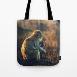 Macaque Motherly Love Tote Bag