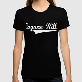 LAGUNA HILLS Baseball Vintage Retro Font T-shirt