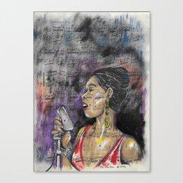 Jazz Singer 1 Canvas Print