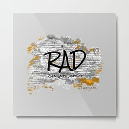 RAD - River Arts District - Asheville, NC - AVL 21 Rustic Grey Metal Print