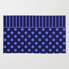 blue, combo pattern Rug