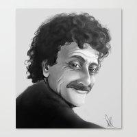 kurt vonnegut Canvas Prints featuring Kurt Vonnegut by Simone Bellenoit : Art & Illustration