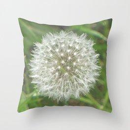 Dandelion Seedhead Throw Pillow