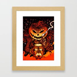 Halloween Pumpkin King (Lord O' Lanterns) Framed Art Print