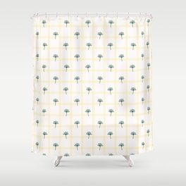 Spring Flower Motif Daisy Style Seamless Pattern. Shower Curtain