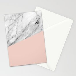 Marble and Pale Dogwood Color Stationery Cards