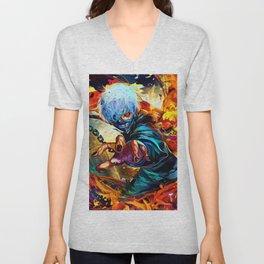 Colorful Ghoul Unisex V-Neck