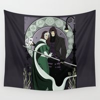 rogue Wall Tapestries featuring Rogue Remy Art Nouveau by Andrew Formosa