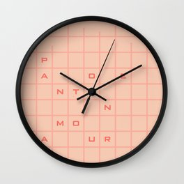 pantone amour Wall Clock
