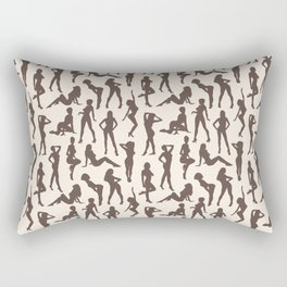 Femmes // Brown & Off-White Rectangular Pillow