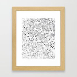 Les Chiens Framed Art Print