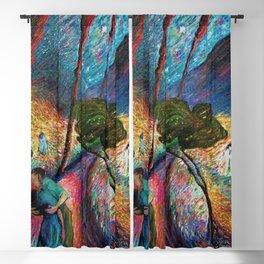 'The Love Vortex - Star-crossed Lovers' Variation 2 mountain landscape by Marianne Von Werefkin Blackout Curtain