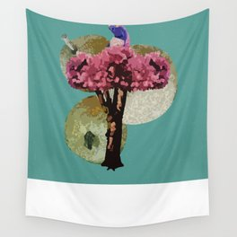 A Partridge in a Pear Tree - 12 Days of Christmas Series Wall Tapestry
