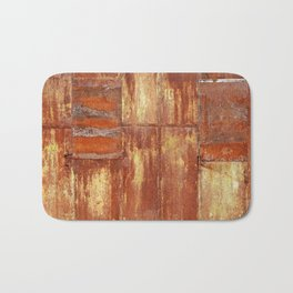 Rusty metal wall surface Bath Mat