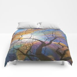 Space Tree Galaxy Painting Orion's Nebula Original Art (Dust in the Wind) Comforters