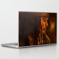 jack sparrow Laptop & iPad Skins featuring Captain Jack Sparrow by Rosita Maria