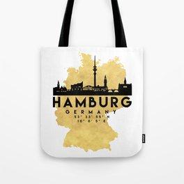 HAMBURG GERMANY SILHOUETTE SKYLINE MAP ART Tote Bag