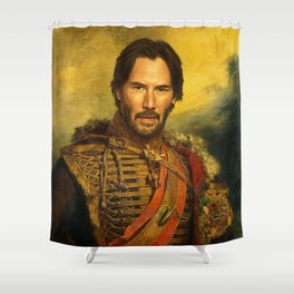 Keanu Reeves - replaceface Shower Curtain
