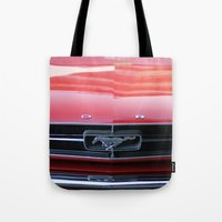 mustang Tote Bags featuring Mustang by JJ's Photography