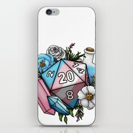 Pride Transgender D20 Tabletop RPG Gaming Dice iPhone Skin