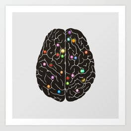 Your Brain On Video Games Art Print