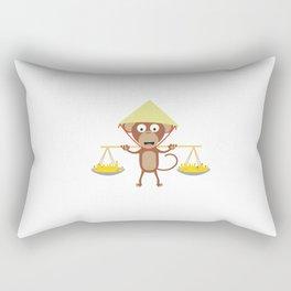 Vietnamese monkey Rectangular Pillow