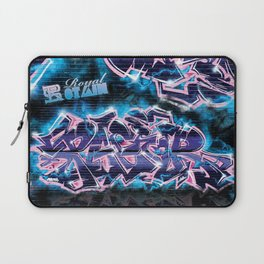 Pager Graffiti Mural Royal Stain Laptop Sleeve