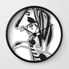 The knight - Emilie Record Wall Clock