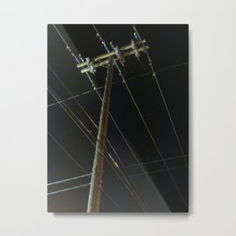 A Spider Web Of Technology Metal Print