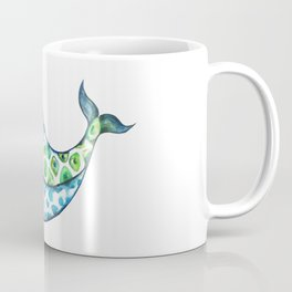 Rainbow whale Coffee Mug