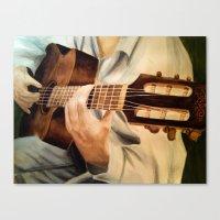 guitar Canvas Prints featuring guitar by Brianna M. Garcia