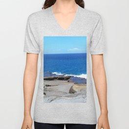Softer Hawaiian Coastline Unisex V-Neck