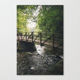 Wooden Bridge at Letchworth Canvas Print