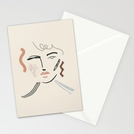 Collage Face Stationery Cards
