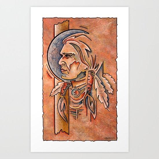 Indian Head Art Print