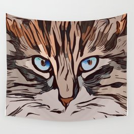 The Tranquil Cat  Wall Tapestry