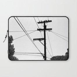 Power Lines at the bluff Laptop Sleeve