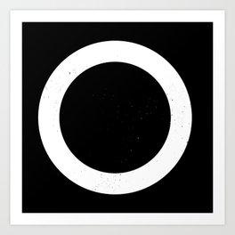 (CIRCLE) (BLACK & WHITE) Art Print