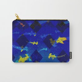 Argyle Frenzy in Lapis Carry-All Pouch