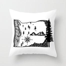 Oregon Love Throw Pillow