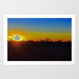 AZ Desert Sunset Art Print