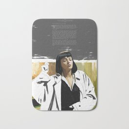PULP FICTION | PAINTING | Girl, You'll Be a Woman Soon | Quote | Vintage Style Poster | Print #M43 Bath Mat