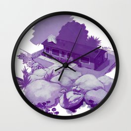 Reverse Commute Wall Clock