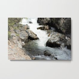 "Where the Mighty Uncompahgre River is But a ""Trickle"" Metal Print"