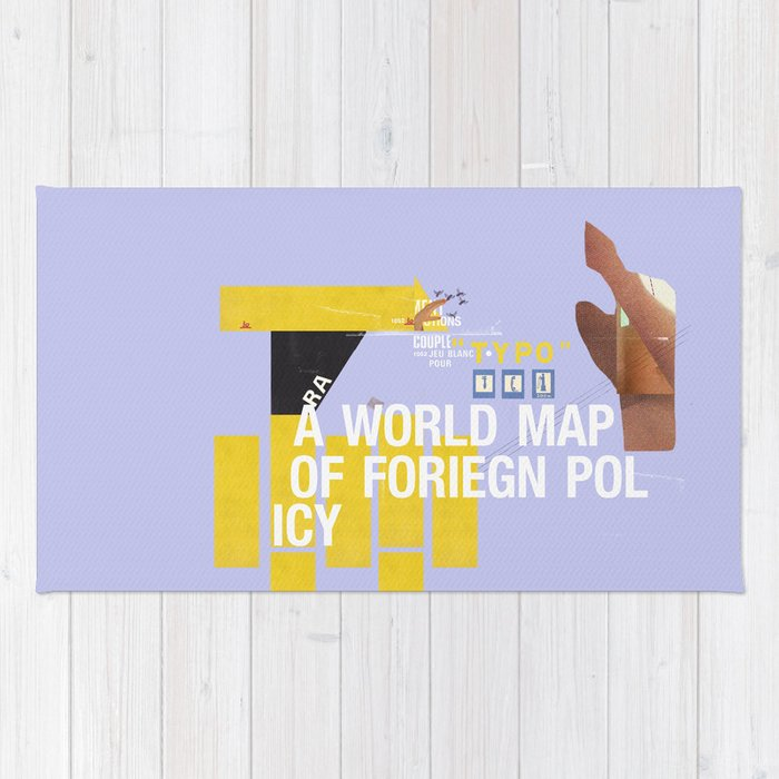 A World Map of Foreign Policy (book jacket cover) Rug