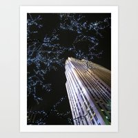 30 rock Art Prints featuring 30 Rock at Night, NYC by Donna Rocco Photography