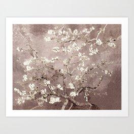 Van Gogh Almond Blossoms Beige Taupe Art Print