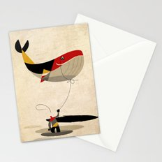 thoughts on a leash Stationery Cards